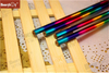 Fashion Rainbow Colors Heat Transfer Pencil with Red Eraser