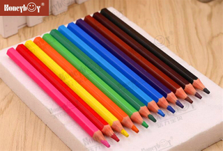 2021 New Plastic Wood Free Jumbo Color Pencil From China