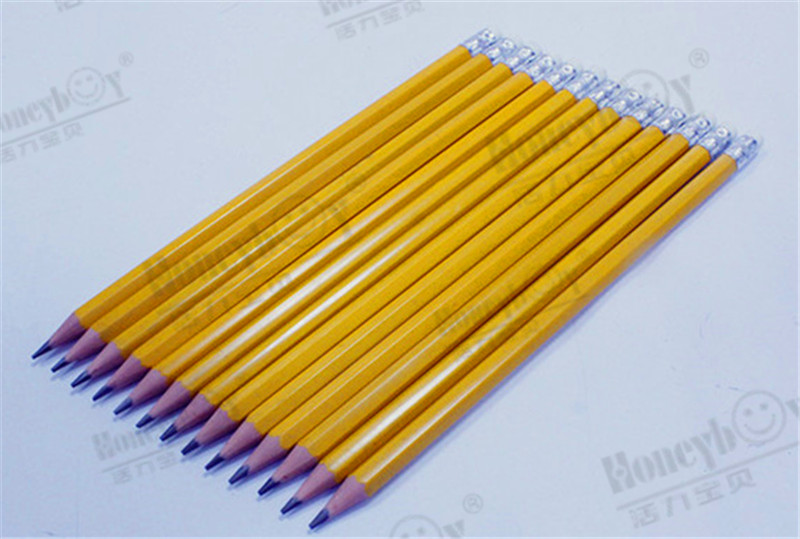 China wood free graphite pencil NO.2 HB pencil