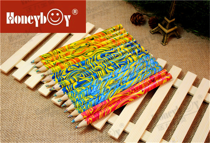 High Quality Wooden Rainbow Color Pencil