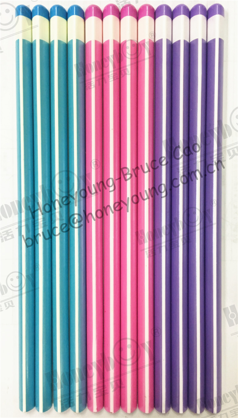 Triangular Dipped Stripe Pearly Paint Pencil From Famous Factory