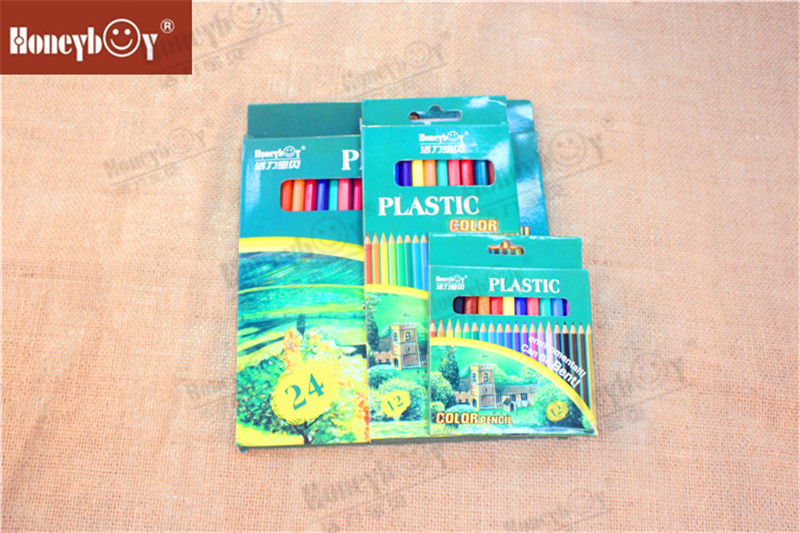 Honeyboy Plastic Wood Free Standard Color Pencil China