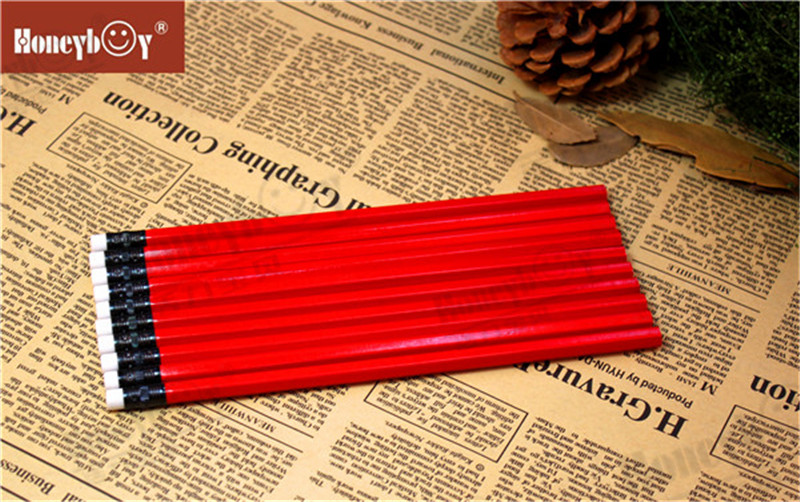 Honeyboy Red Body Standard Paint Pencil With White Eraser From China