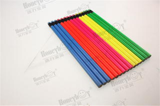 Beautiful And Fashion Hex Neon Paint Pencil with Color Eraser