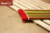 Personality Green And Red Stripe Paint Pencil with Red Dipped Cap