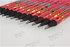 Black Wood Heat Transfer Dipped Pencil with Gradient Color Pattern