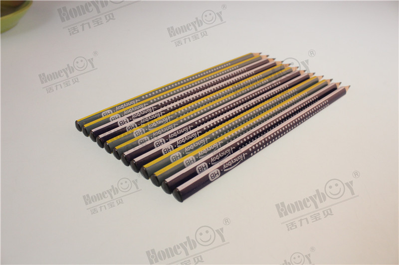 Rolling Foil Paint Dipped Triangular Stripe Paint Pencil with PVC Box